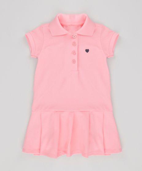Vestido-Polo-em-Piquet-com-Pregas-Rosa-8704517-Rosa_1