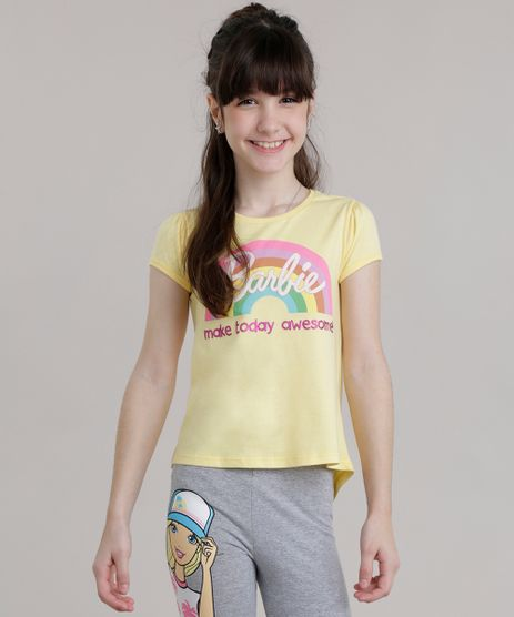 Blusa-Mullet-Barbie-com-Glitter-Amarela-8723370-Amarelo_1