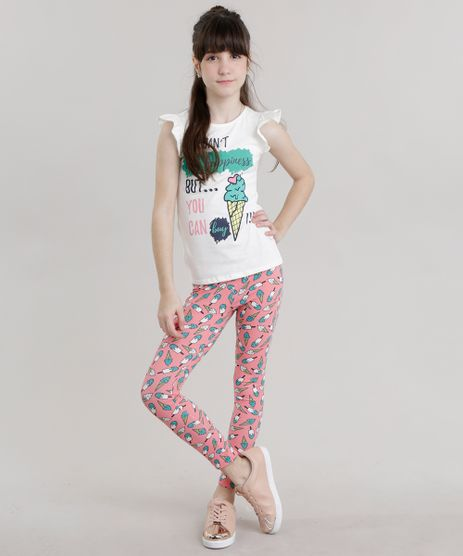 Conjunto-de-Blusa--Sorvete--Branca---Calca-Legging-Estampada-Rosa-8692284-Rosa_1