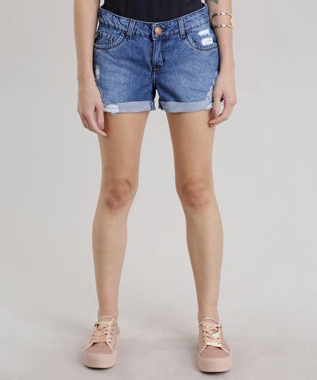 Short-Jeans-Reto-Destroyed-Azul-Escuro-8748945-Azul_Escuro_1