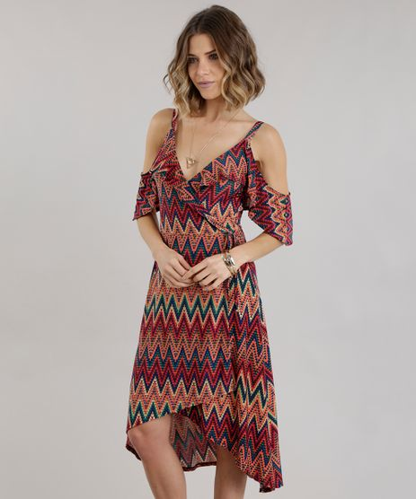Vestido-Open-Shoulder-Transpassado-Estampado-Etnico-com-Babados-Vermelho-8742410-Vermelho_1