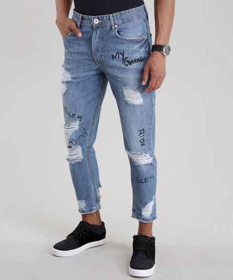 Calca-Jeans-Cropped-Destroyed--Rules--Azul-Medio-8680928-Azul_Medio_1