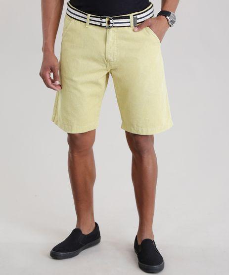 Bermuda-Reta-com-Cinto-Amarela-8725205-Amarelo_1