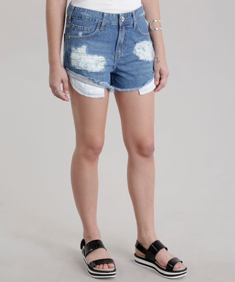 Short-Jeans-Relaxed-Destroyed-Azul-Medio-8749134-Azul_Medio_1