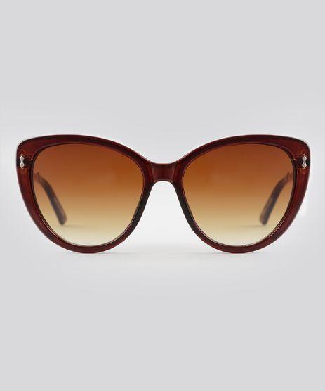 Oculos-de-Sol-Gatinho-Feminino-Oneself-Marrom-8793930-Marrom_1