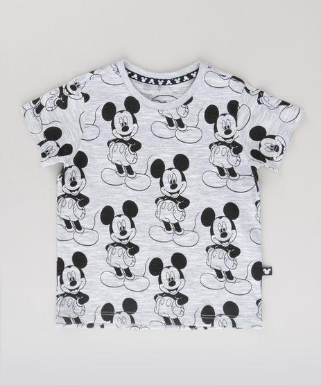 Camiseta-Flame-Estampada-Mickey-Cinza-Mescla-Claro-8720834-Cinza_Mescla_Claro_1