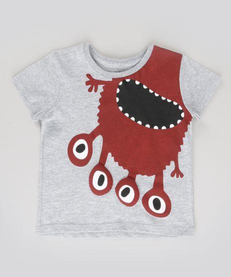Camiseta-Monstro-com-Patch-Cinza-Mescla-8759835-Cinza_Mescla_1