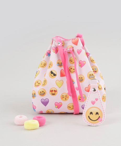 Bolsa-Saco-Estampada-Emoticon---Elasticos-de-Cabelo-Rosa-Claro-8665784-Rosa_Claro_1
