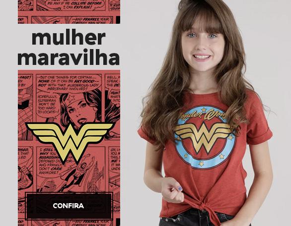 Banner Carrossel - Roupas infantis da Mulher Maravilha