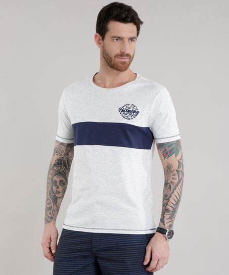 Camiseta-com-Recorte--Harmony--Cinza-Mescla-Claro-8709222-Cinza_Mescla_Claro_1