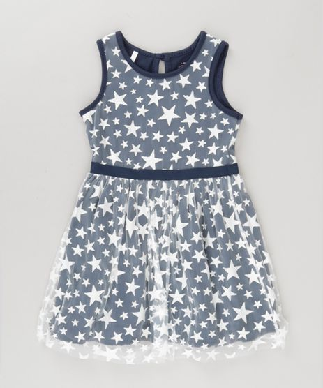 Vestido-em-Tule-Estampado-de-Estrelas-Azul-Marinho-8736443-Azul_Marinho_1