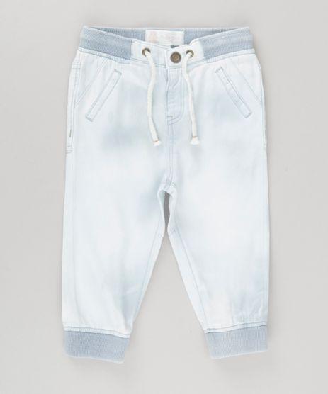Calca-Jeans-Jogger-em-Algodao---Sustentavel-Azul-Claro-8649824-Azul_Claro_1