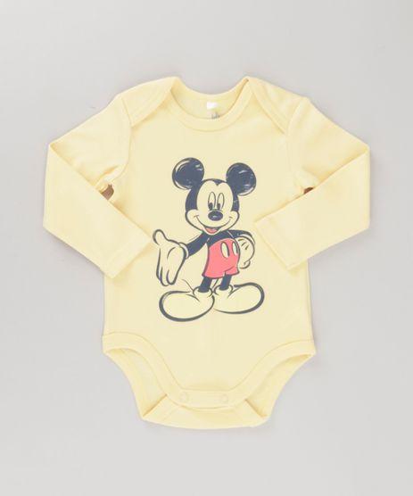 Boby-Mickey-em-Algodao---Sustentavel-Amarelo-8647441-Amarelo_1