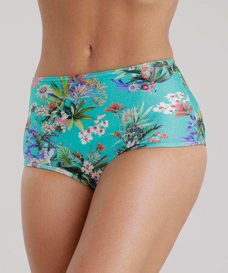 Biquini-Calcinha-Hot-Pant-Estampada-Floral-com-Protecao-UV-50-Verde-8680516-Verde_1