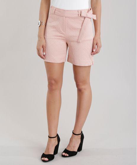 Short-em-Jacquard-com-Cinto-Rose-8359651-Rose_1
