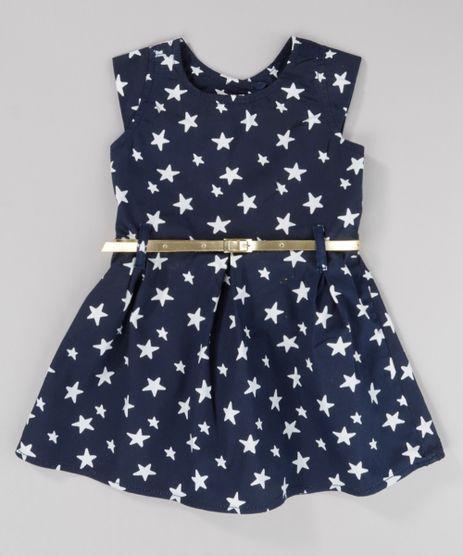 Vestido-Estampado-de-Estrelas-com-Cinto-Metalizado-Azul-Marinho-8743035-Azul_Marinho_1