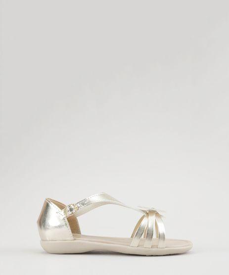 Sandalia-Metalizada-com-Flor-Dourada-8761493-Dourado_1