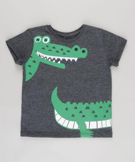 Camiseta-com-Estampa-Interativa-Jacare-Cinza-Mescla-Escuro-8759823-Cinza_Mescla_Escuro_1