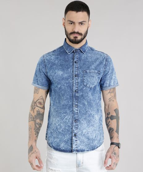 Camisa-Jeans-Marmorizada-Azul-Medio-8708014-Azul_Medio_1
