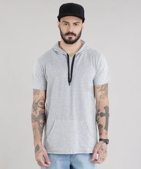 Camiseta-Longa-com-Capuz-Cinza-Mescla-Claro-8785479-Cinza_Mescla_Claro_1