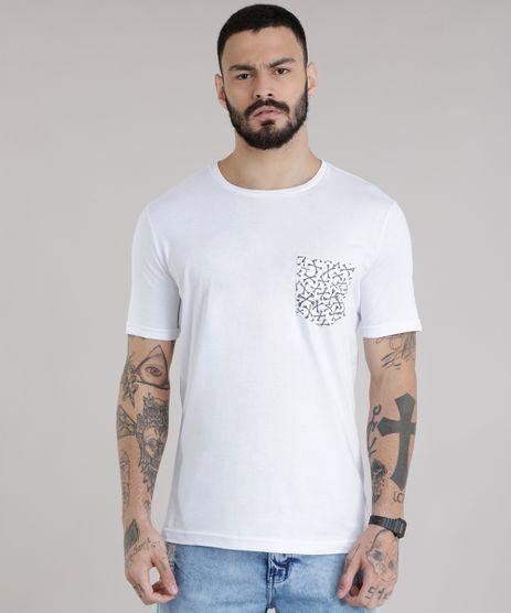 Camiseta-com-Bolso-Estampado-de-Ossos-Branca-8775470-Branco_1