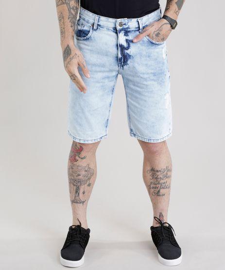 Bermuda-Jeans-Reta-Marmorizada-Destroyed-Azul-Claro-8772196-Azul_Claro_1