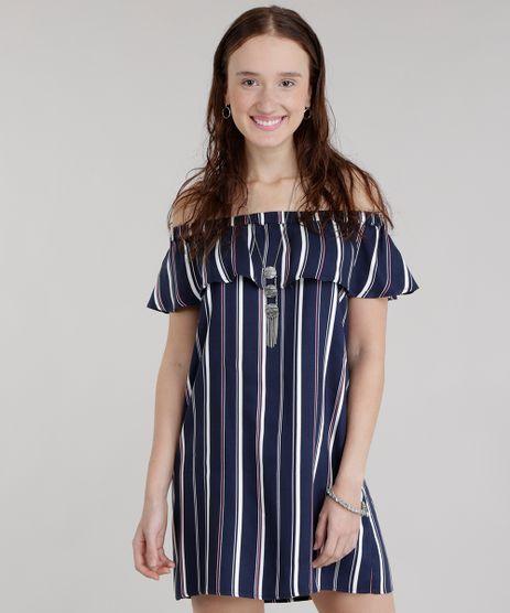 Vestido-Ombro-a-Ombro-Listrado-Azul-Marinho-8652196-Azul_Marinho_1