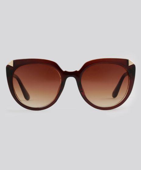 Oculos-de-Sol-Redondo-Feminino-Oneself-Marrom-8793939-Marrom_1