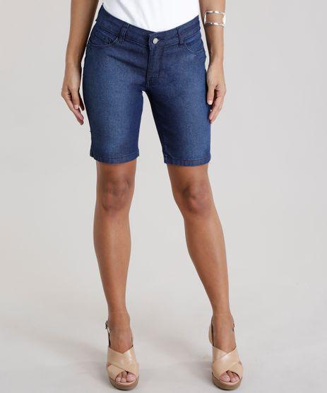 Bermuda-Jeans-Ciclista-em-Algodao---Sustentavel-Azul-Escuro-8567626-Azul_Escuro_1