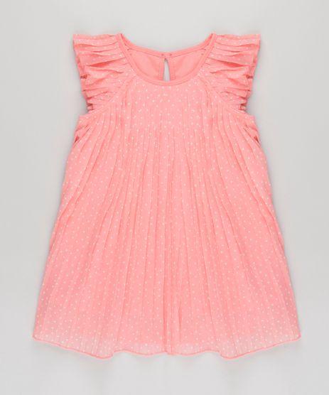 Vestido-Plissado-Estampado-de-Estrelas-Coral-8674469-Coral_1