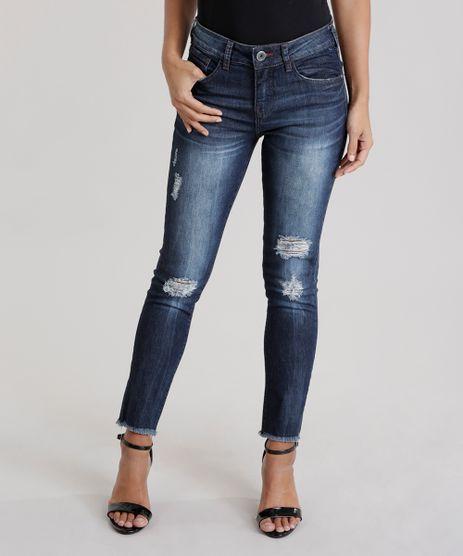 Calca-Jeans-Cigarrete-Destroyed-Azul-Escuro-8752226-Azul_Escuro_1