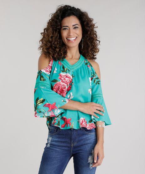 Blusa-Open-Shoulder-Estampada-Floral-com-Renda-Verde-Agua-8737543-Verde_Agua_1