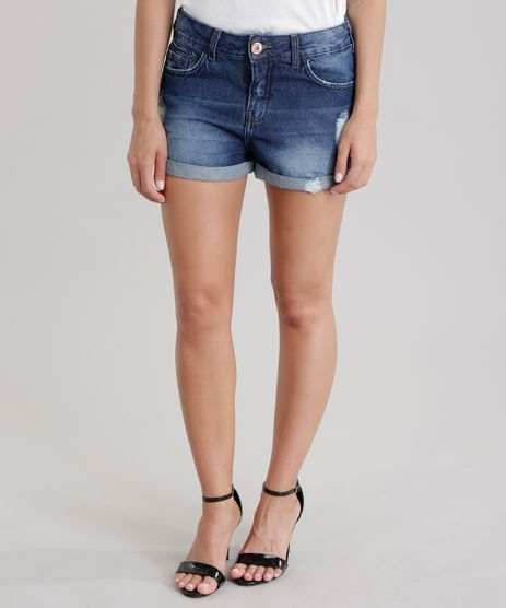 Short-Jeans-Relaxed-Destroyed-Azul-Medio-8727442-Azul_Medio_1
