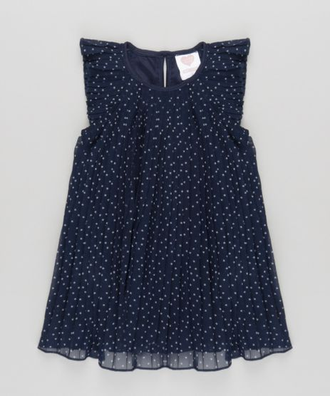 Vestido-Plissado-Estampado-de-Estrelas-Azul-Marinho-8674469-Azul_Marinho_1