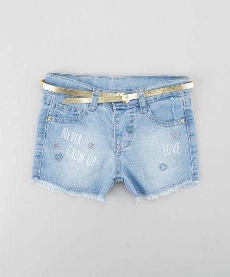 Short-Jeans-em-Algodao---Sustentavel-com-Cinto-Azul-Claro-8614371-Azul_Claro_1