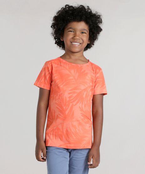 Camiseta-Estampada-de-Folhagens-Laranja-8742939-Laranja_1