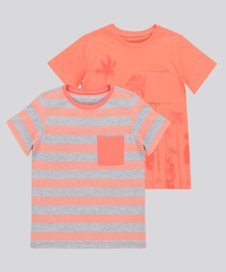 Kit-de-2-Camisetas-com-Bolso-Multicor-8742036-Multicor_1