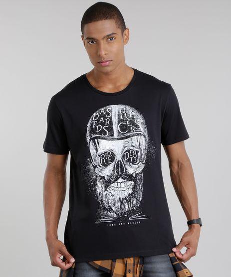 Camiseta-com-Estampa-de-Caveira-Preta-8731439-Preto_1