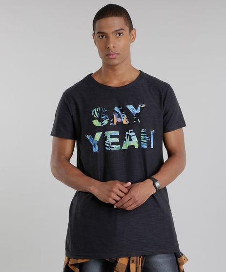 Camiseta-Longa--Say-Yeah--Preta-8720506-Preto_1