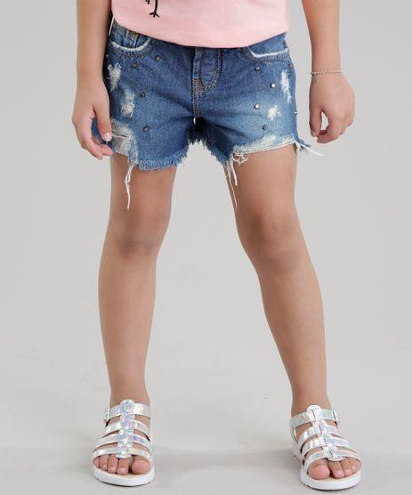 Short-Jeans-Destroyed-com-Tachas-Azul-Escuro-8729429-Azul_Escuro_1