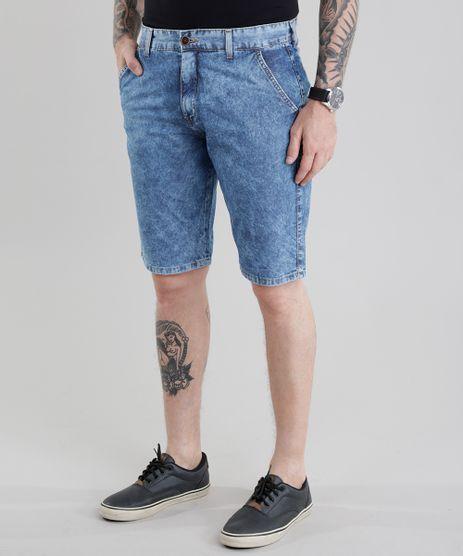 Bermuda-Jeans-Reta-Marmorizada-Azul-Medio-8580742-Azul_Medio_1