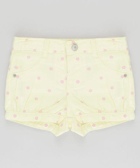 Short-Estampado-Floral-Amarelo-Claro-8772808-Amarelo_Claro_1