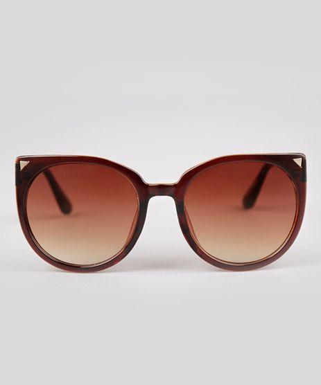 Oculos-de-Sol-Gatinho-Feminino-Oneself-Marrom-8793667-Marrom_1