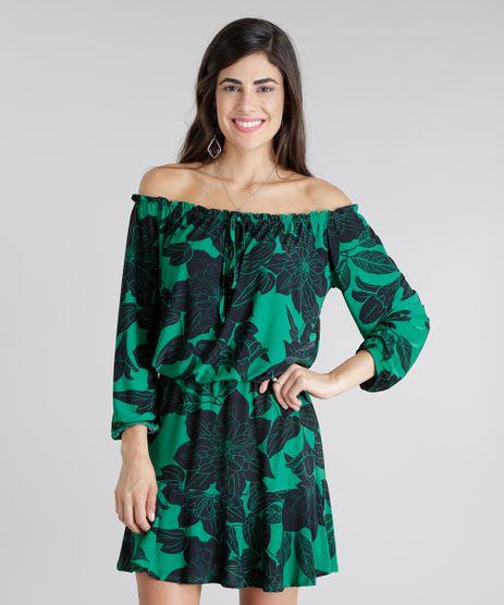 Vestido-Ombro-a-Ombro-Estampado-de-Folhagem-Verde-8812781-Verde_1