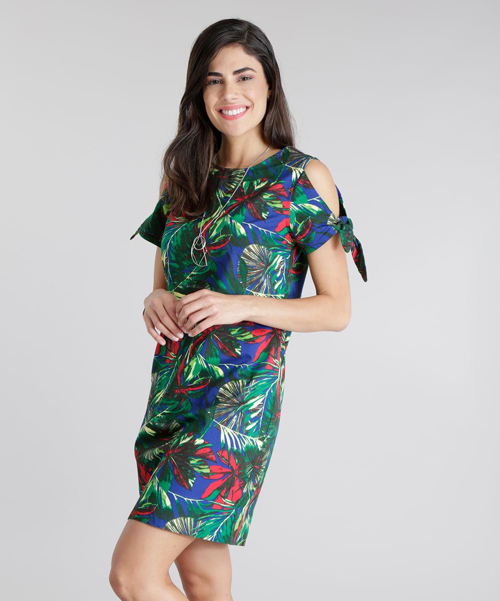 Vestido-Open-Shoulder-Estampado-de-Folhagem-Azul-8656450-Azul_1