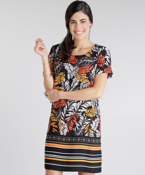 Vestido-Estampado-de-Folhagem-Preto-8649005-Preto_1