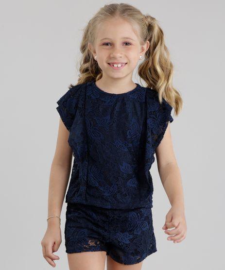 Conjunto-de-Blusa---Short-em-Renda-Azul-Marinho-8737374-Azul_Marinho_1