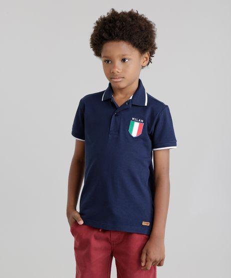 Polo-em-Piquet-com-Patch--Milan--Azul-Marinho-8753669-Azul_Marinho_1