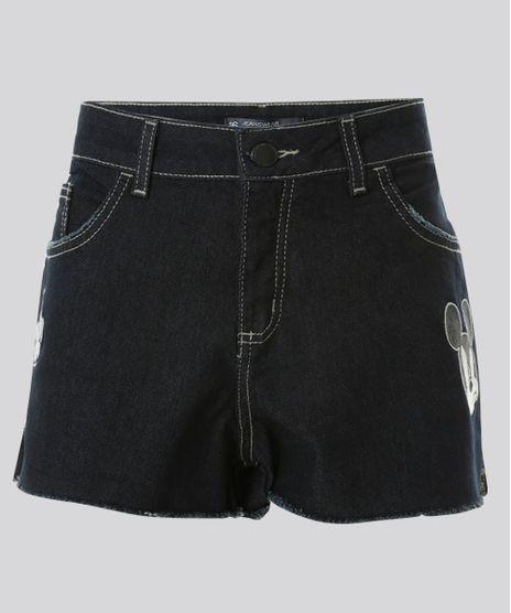 Short-Jeans-Relaxed-Mickey-com-Patchs-Azul-Escuro-8705982-Azul_Escuro_1