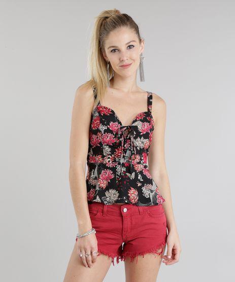 Regata-Peplum-Estampada-Floral-Preta-8658827-Preto_1